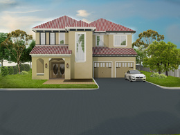 Complete a 3D exterior Rendering of a a home or small office building