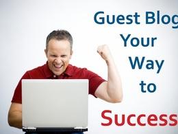 Do 1 x 600 word guest blog post DA30 plus including unique content