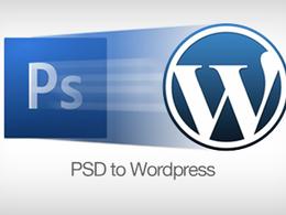 Convert your PSD to a Wordpress website / Or HTML website