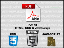 Convert PDF to HTML, CSS and JavaScript