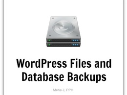 Backup WordPress and automate future backups (all files and databases)