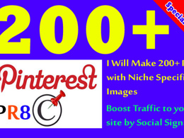 Build 150 PR9 Backlinks from Pinterest PR8 Social Media Site