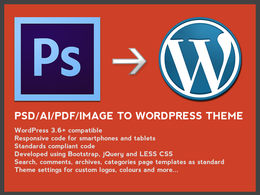 Convert Photoshop or other image to WordPress Theme