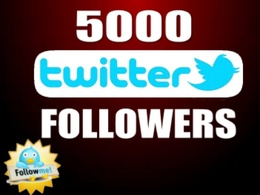 Add 5000+ Real Twitter followers to increase your Social Media Visibility for