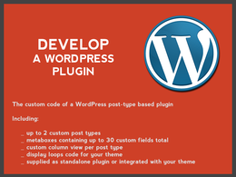 Develop a WordPress plugin