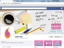 Design a professional Facebook cover image, profile picture