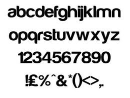 Convert the font you've drawn from illustrator to a standard font type