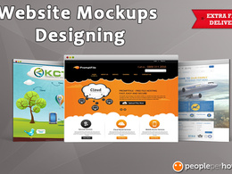 Design web page mockup