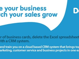 Set your business up on a CRM system and carry out 2 hours of training