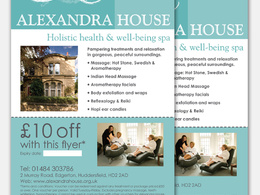Design a flyer or leaflet to promote your business