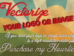 Redraw/vectorize your logo or image