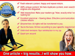 Write a highly engaging and quality 500 words article