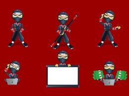 Create cool  mascot set
