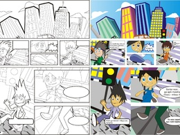 Create comic book or storyboard