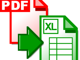 Do PDF to Excel conversion - change into an editable Excel Spreadsheet -up to 10pages