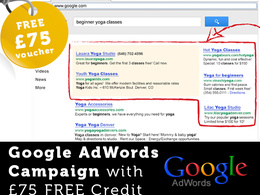 Setup a Google AdWords campaign with free £75 voucher