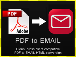 Convert your Adobe PDF file into a reusable HTML email