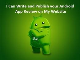 Write and publish your Android App review on my App review website
