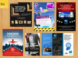 Design your flyer, leaflet, poster or advert