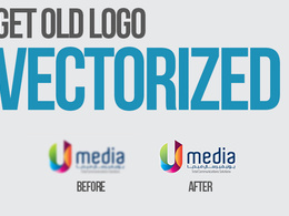 Vectorize / redraw your logo [high-resolution print & web ready]