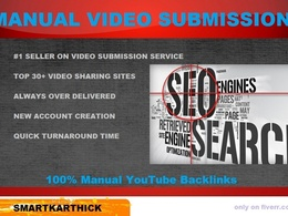 Make a manually Video Submission on 30 Video Sharing Sites of High PR