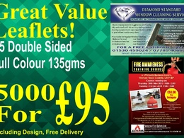 Design a double sided A5 leaflet  and print 5000