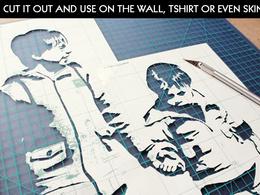 Design high quality realistic Banksy style stencil