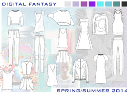 Create a technical drawing for a fashion garment front and back