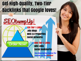 Create 920 high-quality and high PR, two-tier backlinks that are 100% GOOGLE safe