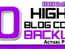 Manually create 50 Blog Comments PR2 - 7 (Actual PR Page) Do-Follow SEO Backlinks