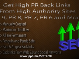 Manually create Penguin 2.1 Safe 2xPR9, 3xPR8, 23xPR7, 36xPR6 and 46xPR5 Backlinks
