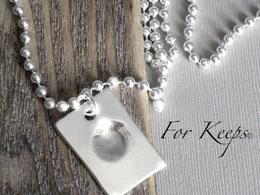 Create silver fingerprints
