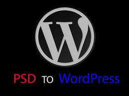Convert your PSD into Wordpress theme & template