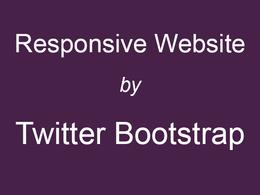 Create responsive website using Twitter bootstrap