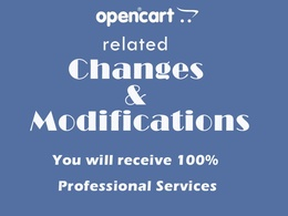 Do Opencart changes and modifications