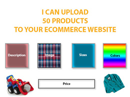 Upload 50 products with all details of your site
