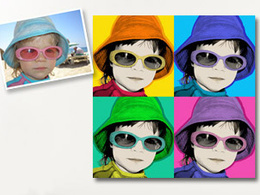 Transform your photo into a fab Pop Art Portrait in Warhol Style