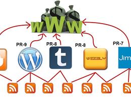 Build Powerful linkpyramid of 5 web 2.0 sites