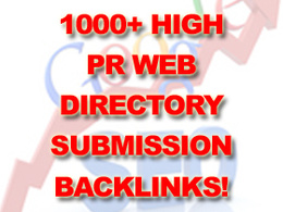 Submit your site to 1000+ High PR web directory submission - high quality backlinks