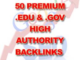 Create 50 premium edu & gov high authority backlinks