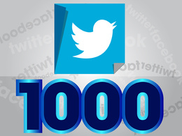Add 1,000 genuine Twitter followers to boost your Twitter marketing