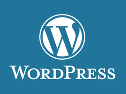 Install Wordpress and install a theme with a basic level of customization