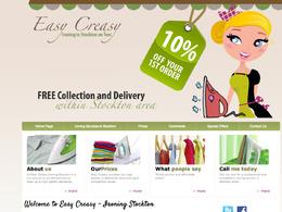 Design a 4 page HTML website