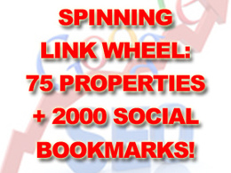 Create spinning link wheel: 75 properties + 2000 social bookmarks
