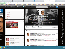 Design your twitter page professionaly