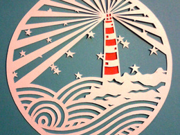 Create a personalised paper cutting (hand-cut) image