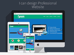 Design website in photoshop for the modern web design trend