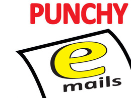 Write a punchy sales or marketing email | Win Work | Sell More