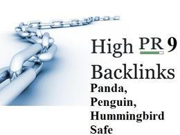 Create PR9 Panda,Penguin and Hummingbird Safe Backlinks from 10 authority websites