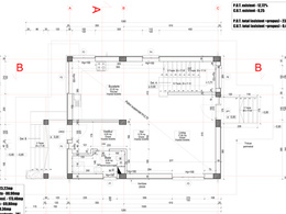 Create one 2D CAD drawing from hand sketches